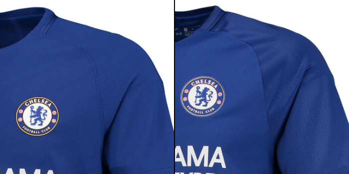 Chelsea Match vs Stadium Shirt Comparison