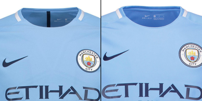Manchester Match vs Stadium Shirt Comparison