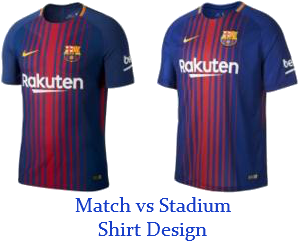 Match Vs Stadium Shirts Difference Champions League Shirts