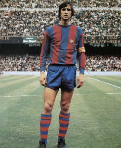 Johan Cruyff in 1973 Barca uniform